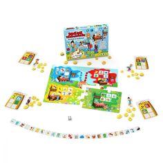 Joc educativ Noriel - Socoteste si cheltuieste, Jocul magazinelor   Noriel Puzzle, Cabinet, Figurine, Clothes Stand, Puzzles, Closet, Cupboard, Puzzle Games, Vanity Cabinet
