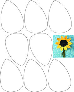 Print Petals out on yellow paper. Will a… Childrens Thanksgiving Sunflower Craft. Print Petals out on … Craft Stick Crafts, Preschool Crafts, Paper Crafts, Toddler Art Projects, Toddler Crafts, Sunflower Template, Beach Themed Crafts, Sunflower Crafts, Kids Fall Crafts