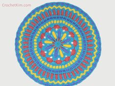 Make It Crochet | Your Daily Dose of Crochet Beauty | Free Crochet Pattern: Turquoise Mandala Doily