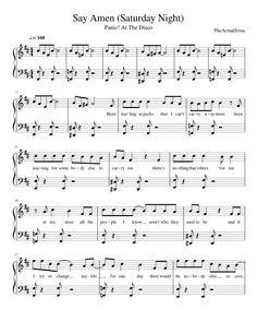 Say Amen (Saturday Night)- Panic! At The Disco Trumpet Sheet Music, Saxophone Sheet Music, Piano Sheet Music, Music Sheets, Violin Music, Guitar, Funny Band Memes, Easy Piano Songs, Music Chords