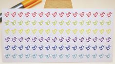 rainbow colored small bird stickers for planners and bullet journals - by StickersSwissMade