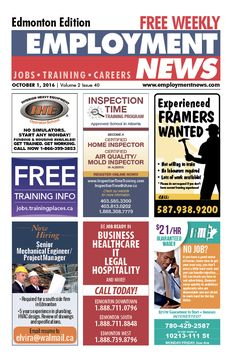 A new #employment opportunity awaits you in #Edmonton's #EmploymentNews. https://employmentnews.com/webEditions/employmentnewsedmonton/index.html