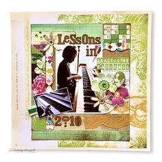 12x12 Lessons Layout by Amy Heller, Little Black Dress Kit Club June Kit project idea
