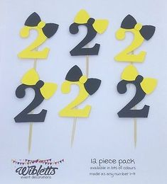 CARD EMMA WIGGLE BOW THEME CUPCAKE TOPPER ANY NUMBER BIRTHDAY PARTY YELLOW PINK Wiggles Cake, Wiggles Party, Wiggles Birthday, 2nd Birthday Parties, Baby Birthday, Birthday Party Decorations, Birthday Ideas, Third Birthday, Birthday Cake