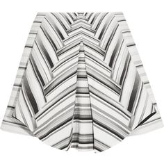 Peter Pilotto MK printed textured cotton-blend skirt (9 155 UAH) ❤ liked on Polyvore featuring skirts, white, white striped skirt, peter pilotto skirt, peter pilotto, white knee length skirt and striped skirt