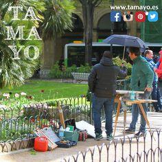Hemos publicado casi 900 fotos en nuestro http://ift.tt/1Obuw0N hechas en el concurso de pintura #TamayoPapeleria de primavera en la Plaza de Gipuzkoa #Donostia #SanSebastian Sales en alguna?