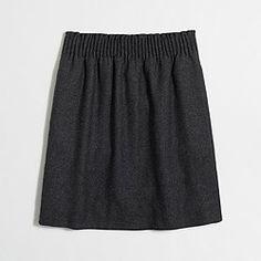 Factory pleated mini skirt in herringbone