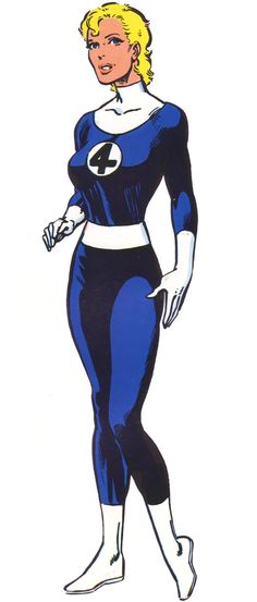 Classic Invisible Woman by Byrne. A simple rescan and reprocess of this classic drawing of Sue, because timetable.