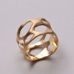 Bio A - 14k gold ring , Wedding Ring , Unisex Ring , Wedding Band , Mens Ring. $425.00, via Etsy.