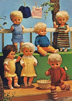 18 inch Baby Doll Clothes Vintage Knitting Pattern for download