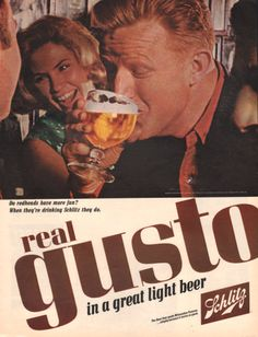 1965 Schlitz Beer print ad Do Redheads have more Fun by Vividiom, $8.00
