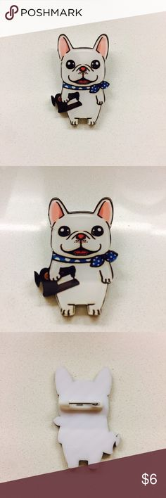 Super Cute Bulldog Pin Brand New 🐶Super Cute Bulldog Pin 🐶Brand New 🐶 Please compare with the pen for the size of the pin 🐶Bundle with other items is strongly suggested 🐶I usually ship my items within 24 hours except weekend and holidays Accessories