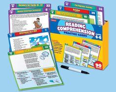 Reading Comprehension Practice Cards - Gr. 4-6