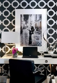 home office- black and white