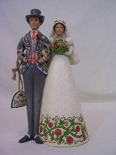 Jim Shore Wedding Couple Cake Topper Bride Groom Heartwood Creek 4007600 New   eBay