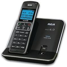RCA-2111-1BSGA Expandable DECT 6.0 Cordless Digital Phone with Caller ID/CWCID #RCA