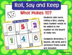 Students practice number combinations for 10.