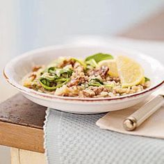 Risotto with Italian Sausage, Caramelized Onions, and Bitter Greens ...