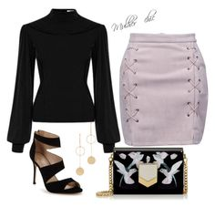 """""""Inspiração!"""" by lenagomes on Polyvore featuring mode, WithChic, Carvela, Jimmy Choo et Cloverpost"""