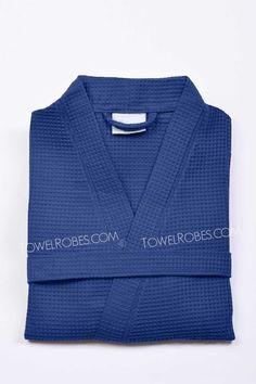 77532b132b Navy Blue Short Spa Robe for Women Personalized Wedding