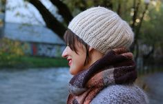 Brioche Hat - a supr easty hat you can knit in one night.