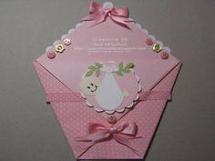 Baby Girl  Diaper-fold Gift Card Holders