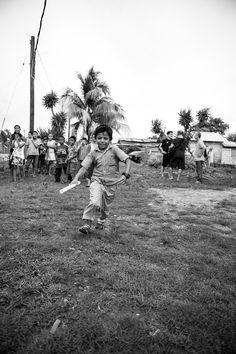 Run! - a boy is running for a goodies....