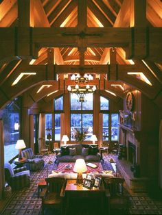Aspen home designed by Arthur Chabon, architect, inspired by the work of architect Bernard Maybeck