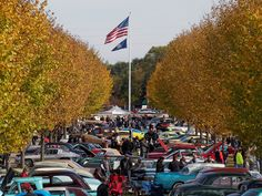 Fall car show at the Packard Proving Grounds Historic Site in Shelby Township, MI. Shelby Township, Proving Grounds, Historical Sites, Car Show, Motor Car, Open House, Fall, Foundation, Autumn