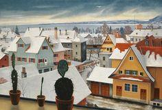 """""""Winter Landscape"""" by Rudolf Wacker (1893-1939)"""