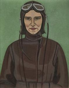 This is one of Rita Angus's most important early works, which she painted while still a student. 'The Aviatrix' is Angus's sister Edna, one of the first women in New Zealand to hold a pilot's licence. Edna radiates the cool confidence of a modern. Artist Painting, Figure Painting, New Zealand Art, Nz Art, Canadian Painters, Portrait Art, Portraits, Dieselpunk, Figurative Art