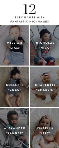 12 Baby Names with Fantastic Nicknames via @PureWow