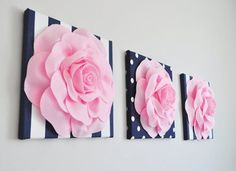 Nautical Nursery Baby Decor Navy / Pink Baby Shower Baby