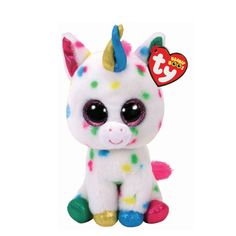 adc64a11259 Ty Beanie Boo Small Harmonie the Unicorn Plush Toy New Beanie Boos
