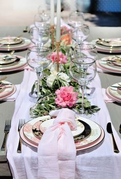 Marchesa by Lenox | Table + Dine #boho | Painted Camellia | Design/styling: Deborah Shearer | Photography: @thestylesafari