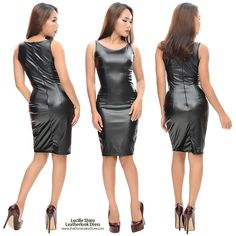 Grey Fashion, Leather Fashion, Womens Fashion, Leather Dresses, Leather Skirt, First Date Outfits, Lbd Dress, Vinyl Dress, Sexy Skirt