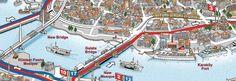 Карта автобусных экскурсионных маршрутов компании Big Bus