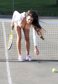 Chloe Khan aka Chloe Mafia playing tennis