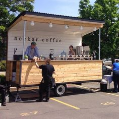 Coffee trailer. One of our most popular generators for coffee vans: www.digitalc...