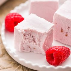 Healthy Raspberry Coconut Fudge?? Yes! (refined sugar free, low carb, high protein)
