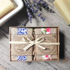 Bath Gift Set 2 Bars of Handcrafted Soap by TheHerbalWorkshop