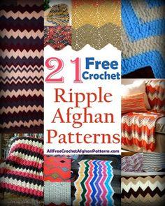 25 Colorful Crochet Afghan Patterns: Ripple Stitch | AllFreeCrochetAfghanPatterns.com