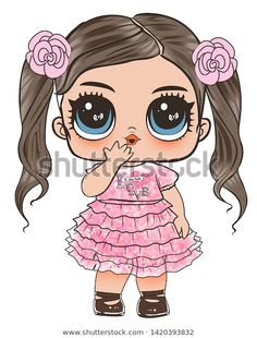 Find Lol Doll Design Baby Tshirt stock images in HD and millions of other royalty-free stock photos, illustrations and vectors in the Shutterstock collection. Thousands of new, high-quality pictures added every day. Doodles Bonitos, Girl With Purple Hair, Chibi Kawaii, Paper Dolls Printable, Cute Doodles, Lol Dolls, Little Doll, Portrait Illustration, Baby Design