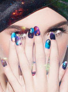 Stephanie's Galaxy nail wraps