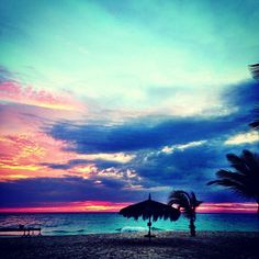 Even on rainy days the sunsets on this island take my breath away     (at Manchebo Beach Resort  Spa)