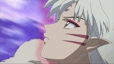Sesshomaru transforming into his Dog demon self