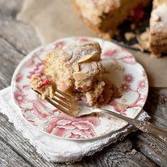 Rhubarb Sour Cream Cake | Seasons & Suppers