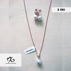47c20b05c609 Juego de collar y arracadas de oro laminado  590.00  joyería  accesorios