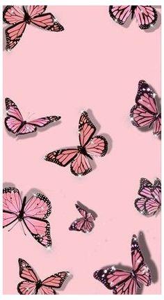 Pink Glitter Wallpaper, Butterfly Wallpaper Iphone, Iphone Background Wallpaper, Pink Wallpaper For Phone, Pretty Phone Backgrounds, Cute Pastel Wallpaper, Retro Wallpaper, Iphone Wallpaper Tumblr Aesthetic, Aesthetic Pastel Wallpaper