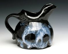 Ghostly Two Skulls Creamer Small Pitcher by nicolepangas on Etsy, $40.00